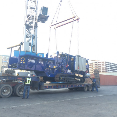Delivery of a crushing plant to the Umur region