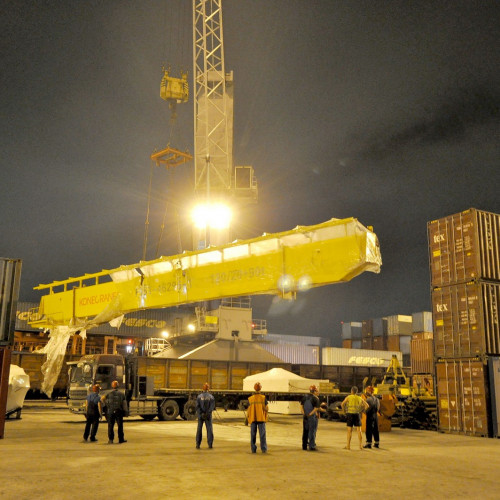 Crane beam delivery for star plant